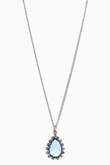 Next Platinum Plated Jewelled Stone Necklace