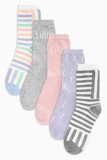 Next Pastel Snooze Ankle Socks Five Pack