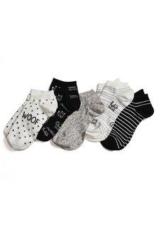 Next Dog Pattern Trainer Socks Five Pack