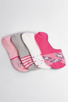 Next Unicorn Invisible Trainer Socks Four Pack