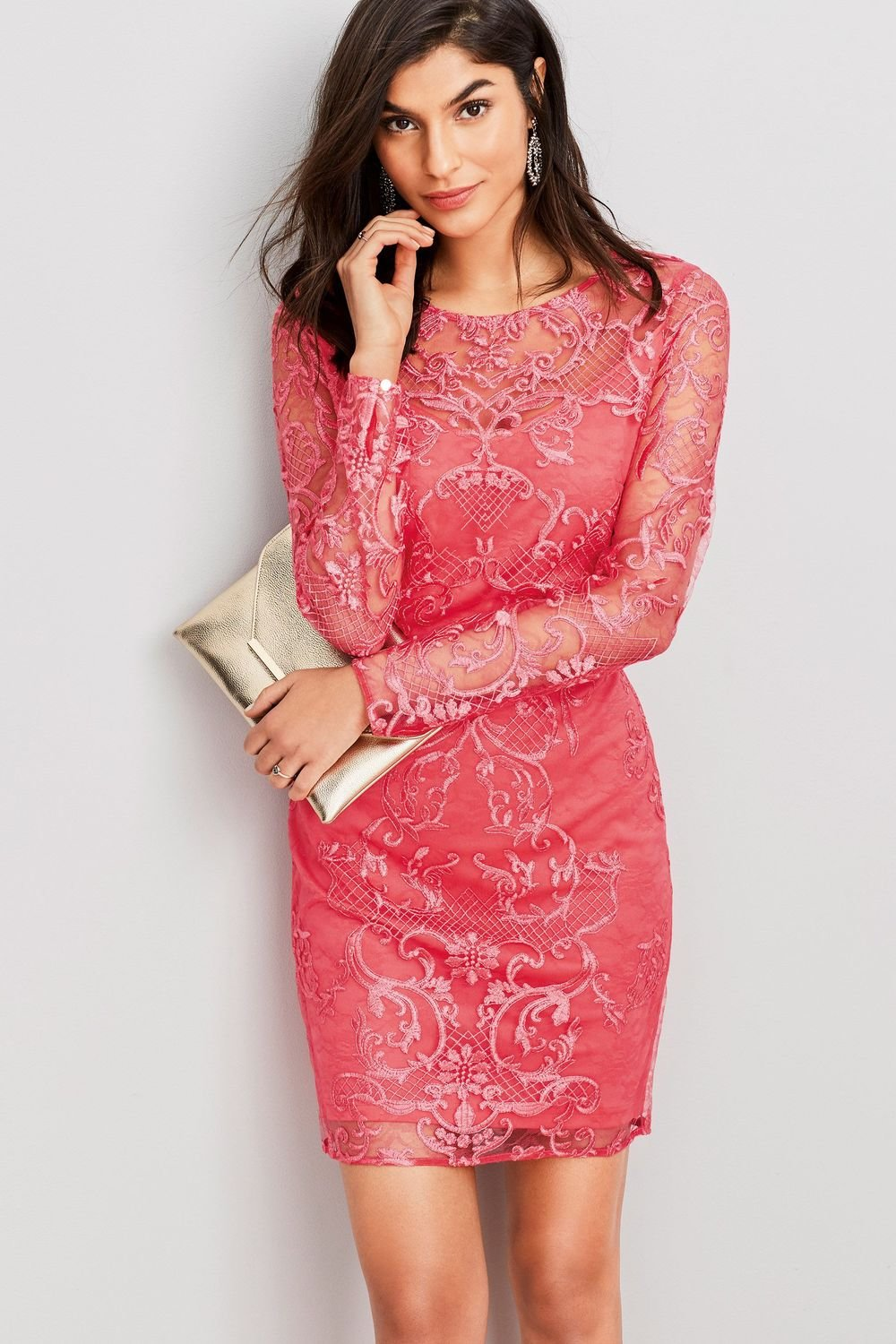 Next Embroidered Lace Bodycon Dress