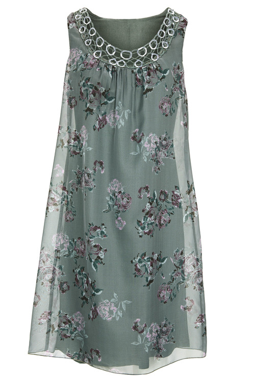 Heine Neck Trim Printed Dress