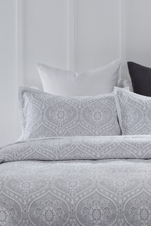 Damask Woven Pillowcase Pair