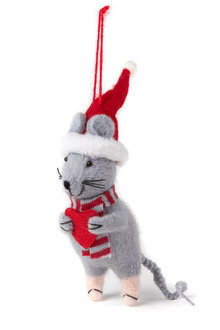 Felt Christmas Mouse Ornament