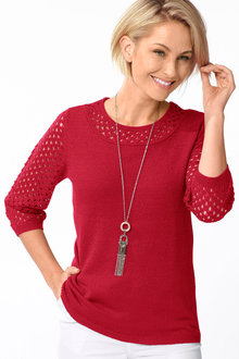 Capture European Textured Detail Sweater