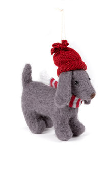 Felt Sausage Dog Ornament