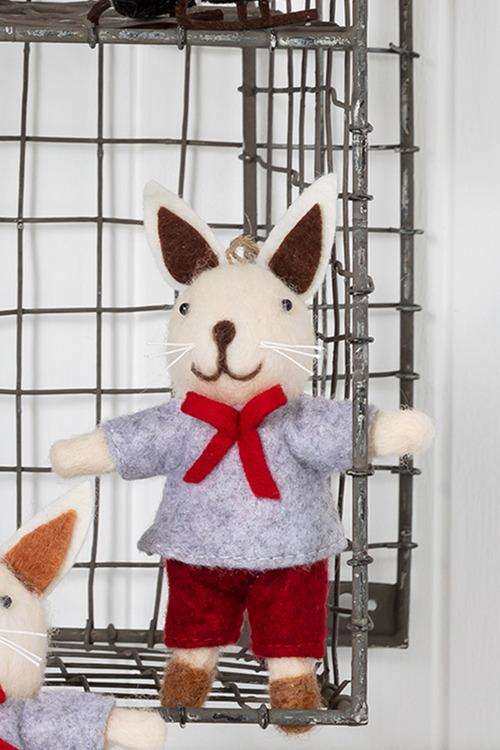 Felt Boy Bunny Ornament