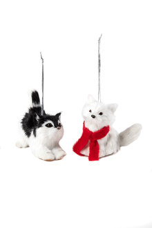 Furry Friends Cat Ornaments Set 2