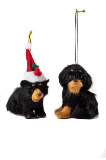 Furry Friends Dog Ornaments Set of Two
