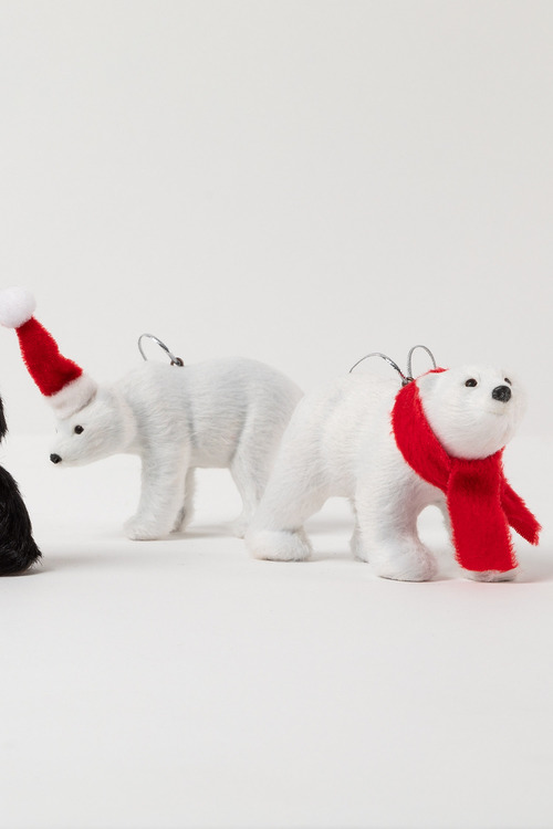 Furry Friends Polar Bear Ornaments Set 2