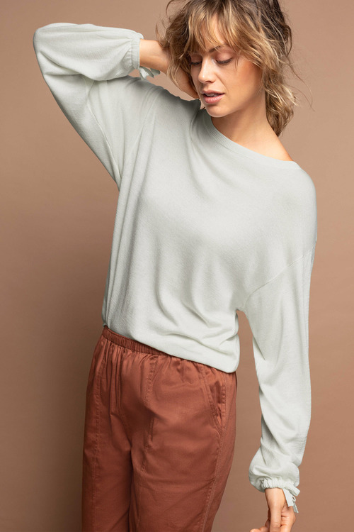 Emerge Tie Sleeve Sweater