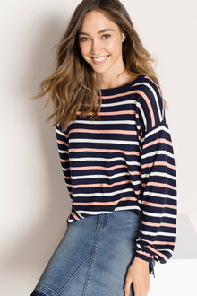 Emerge Tie Sleeve Sweater