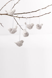 Ceramic Bird Ornament Set of 6