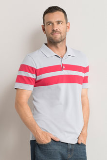 Southcape Block Stripe Pique Polo
