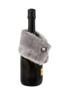 Faux Fur Wine Bottle Stole
