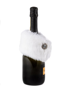 Faux Fur Wine Bottle Stole