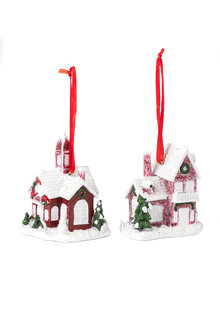 Christmas House Ornament Set 2