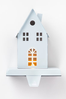 Light Up House Stocking Holder