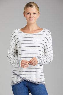 Urban Stripe Crossover Jumper