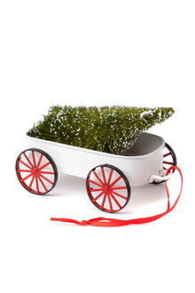 Christmas Tree Wagon Ornament