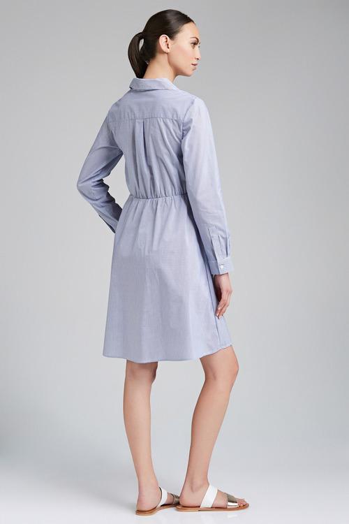 Emerge Knot Front Shirt Dress