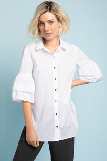 Emerge Ruffle Cuff Shirt - 203829