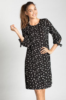 Emerge Tie Sleeve Swing Dress