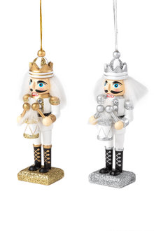 Nutcracker Drummer Ornaments Set 2