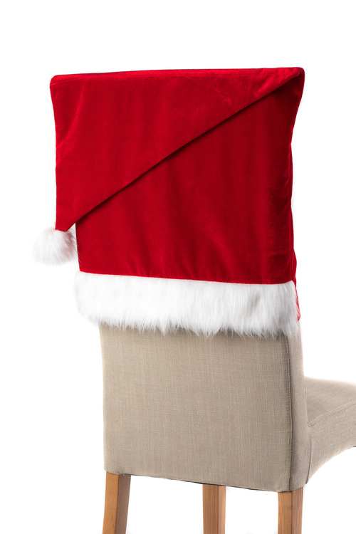 Velvet Santa Hat Chair Covers Set of Four