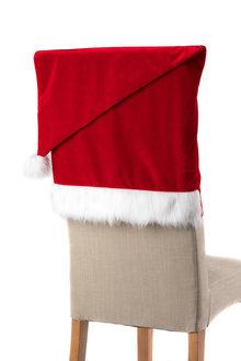 Velvet Santa Hat Chair Covers Set of Four