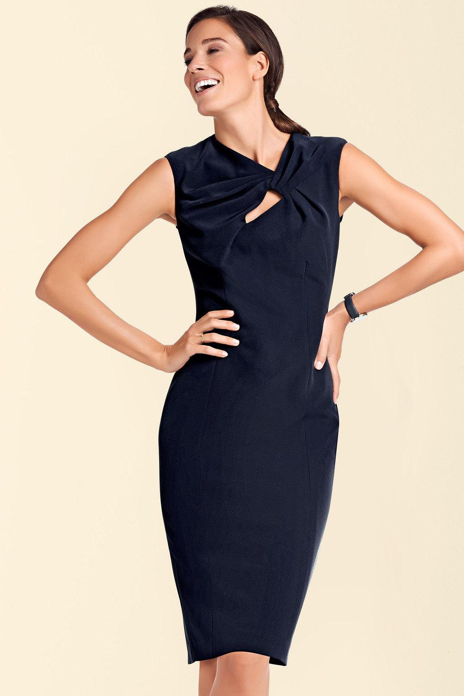 0b1b80af6420 Heine Neck Detail Shift Dress Online   Shop EziBuy