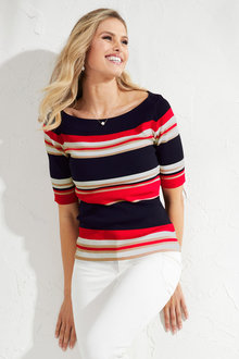 Heine Striped Knit Top - 203852