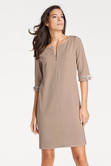Heine Front Zip Shift Dress - 203859
