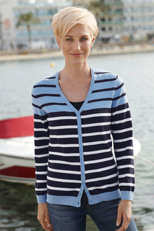 Capture European Stripe Cardigan - 203861