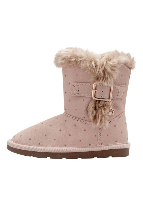 Next Faux Fur Trim Pull-On Boots (Younger Girls)