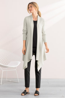 Grace Hill Drape Rib Cardigan