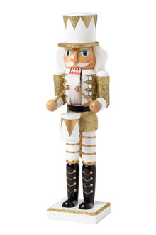 Glitzy Nutcracker Drummer Decoration