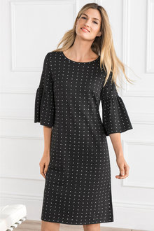 Grace Hill Ruffle Sleeve Dress - 203959