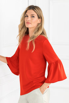 Grace Hill Ruffle Sleeve Tee - 203960