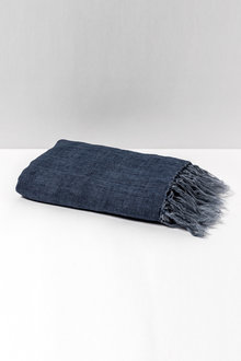 Fringe Linen Throw