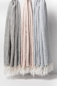 Stripe Linen Throw