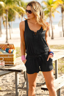 Urban Lace Up Jumpsuit