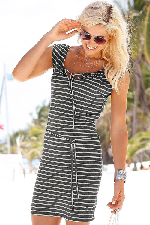Urban Stripe Tie Front Dress