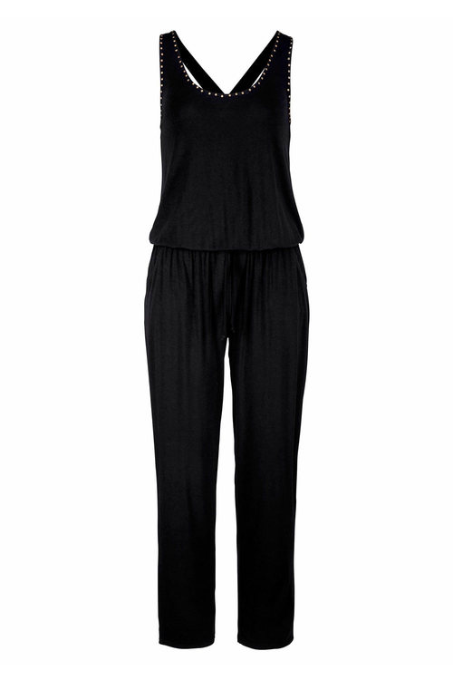 Urban Stud Detail Knit Jumpsuit