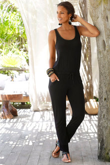 Urban Stud Detail Knit Jumpsuit - 204108