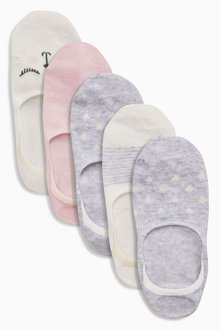 Next Invisible Trainer Socks Five Pack (Older Girls)