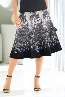 Capture European Printed Skirt