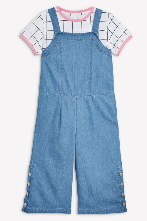 Next Popper Leg Playsuit With T-Shirt (3-16yrs)