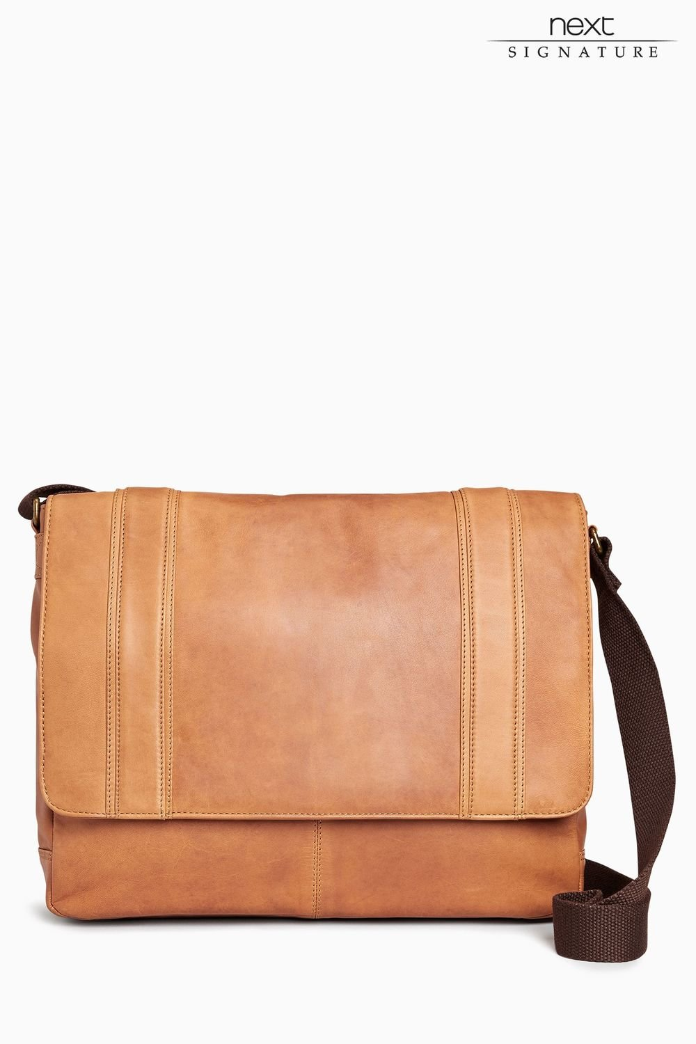 82612e7d0f7df2 Next Signature Leather Panelled Messenger Online