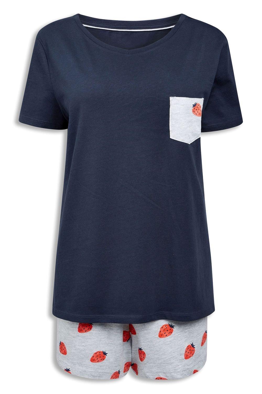 68c86477ce1e45 Next Jersey Short Pyjama Set Online   Shop EziBuy